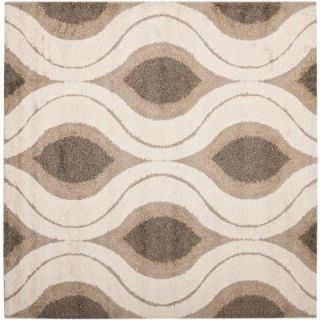 Safavieh Florida Shag Cream/Smoke 6 ft. 7 in. x 6 ft. 7 in. Square Area Rug SG461 1179 7SQ