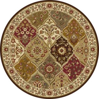 Safavieh Lyndhurst Collection Traditional Ivory/ Ivory Rug (5 3 Round