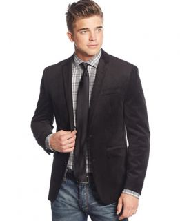 Bar III Black Velvet Slim Fit Sport Coat   Blazers & Sport Coats   Men