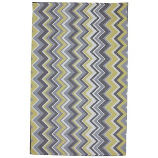 Mohawk Home Ella Zig Zag Rectangular Yellow Transitional Outdoor Tufted Area Rug (Common 5 ft x 8 ft; Actual 5 ft x 8 ft)