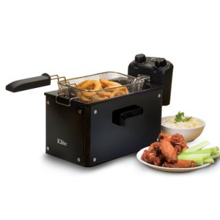 Elite by Maxi Matic Platinum 3.31 Liter Immersion Deep Fryer with