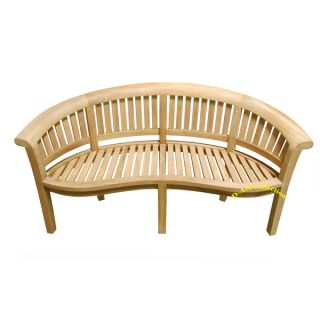 Art California Teak Wood Wide Curved Bench (Indonesia)   17461926