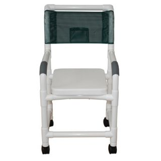 MJM International Standard Deluxe Shower Chair with Soft Seat Complete