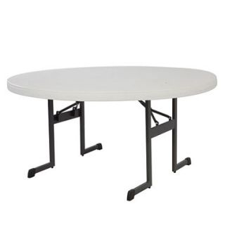 Lifetime 60 Round Professional Grade Folding Table, Almond