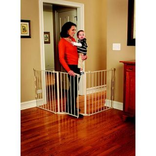 Regalo 76 Inch Super Wide Configurable Walk Through Baby Gate, Hardware Mount