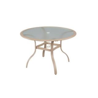 Hampton Bay Westin 44 in. Round Commercial Patio Dining Table 151 007 TBL 44G