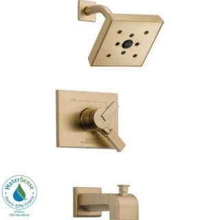 Delta Vero 1 Handle H2Okinetic Tub and Shower Faucet Trim Kit in Champagne Bronze (Valve Not Included) T17453 CZH2O