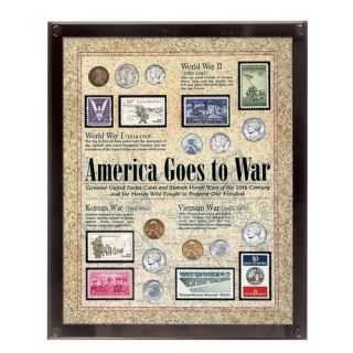 America Goes to War Coin Wall Framed Memorabilia by American Coin