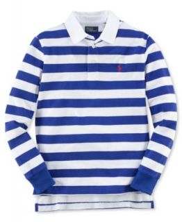 Ralph Lauren Kids Shirt, Boys Woven Collar Long Sleeve Striped Mesh