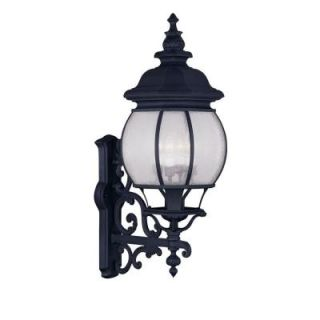 Filament Design Providence Wall Mount 4 Light Outdoor Black Incandescent Lantern CLI MEN7904 04
