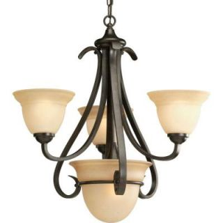 Progress Lighting Torino Collection 4 Light Forged Bronze Chandelier P4415 77
