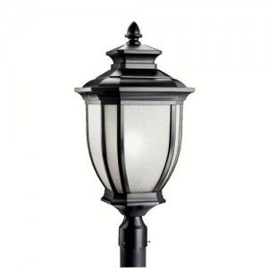 Kichler 9940BK Outdoor Light, Transitional Post Mount 1 Light Fixture   Black (Painted)