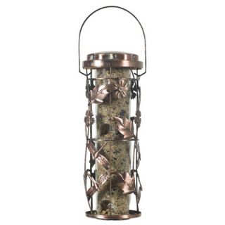 Birdscapes Copper Garden Decorative Caged Bird Feeder