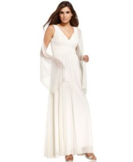 Alex Evenings Petite Dress, Sleeveless V Neck Evening Gown
