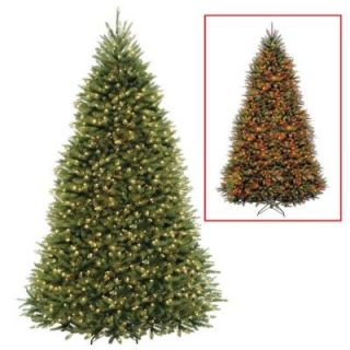 National Tree Company 10 ft. Dunhill Fir Artificial Christmas Tree with Dual Color LED Lights DUH 330LD 10S