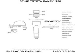 2007 2011 Toyota Camry Wood Dash Kits   Sherwood Innovations 2490 R   Sherwood Innovations Dash Kits