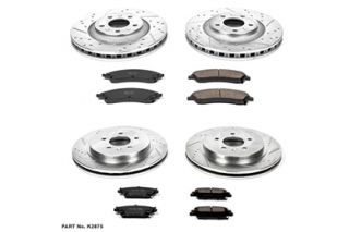 2006, 2007 Cadillac CTS Performance Brake Kits   Power Stop K2875   Power Stop Z23 Brake Kit