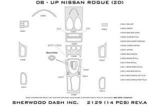 2010 Nissan Rogue Wood Dash Kits   Sherwood Innovations 2129 R   Sherwood Innovations Dash Kits