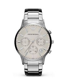 Emporio Armani Silver Stainless Steel Watch, 43mm