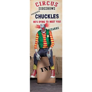 5 1/2' Chuckles Clown Animated Halloween Prop