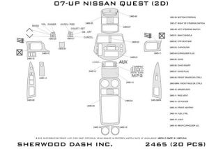 2011 Nissan Quest Wood Dash Kits   Sherwood Innovations 2465 R   Sherwood Innovations Dash Kits