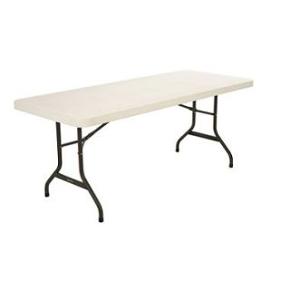 Lifetime 6 Commercial Grade Folding Table, Almond (Select Quantity)