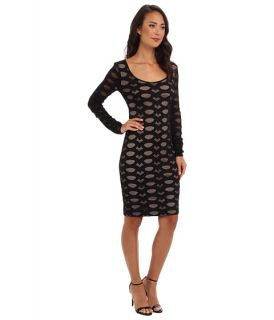 Bcbgmaxazria Tanya Stretch Lace Dress Black