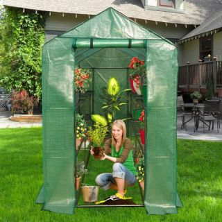 Ogrow Extra Large Heavy Duty Walk In 2 Tier 12 Shelf Portable Lawn and Garden Greenhouse   Greenhouses
