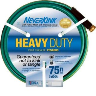 Neverkink 5/8 in. Dia x 75 ft. Heavy Duty Water Hose 8605 75