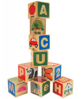 Melissa and Doug Kids ABC/123 Wooden Blocks   Kids & Baby