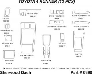 1996, 1997 Toyota 4Runner Wood Dash Kits   Sherwood Innovations 0390 AZ   Sherwood Innovations Dash Kits