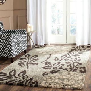 Safavieh Ultimate Smoke/ Dark Brown Shag Rug (33 x 53)