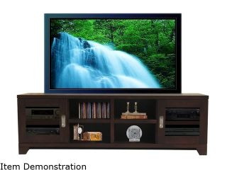 "Turnda Champion CP4476A Transitional 76"" Black Cherry TV Console"