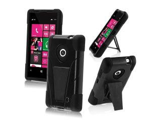 HRW for Nokia Lumia 521 T Stand Cover   Black+Blue
