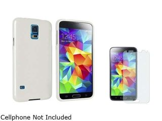 Insten Clear Jelly TPU Rubber Case with Colorful Diamond LCD Screen Protector for Samsung Galaxy S5 / SV 1841970