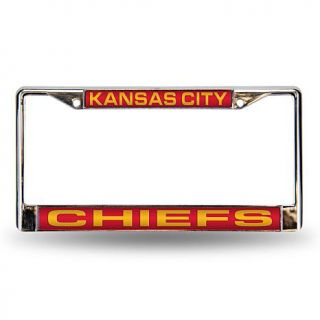 Red Laser Chrome License Plate Frame   Kansas City Chiefs    7574707