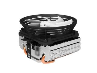 Lotous® PCCooler Q101 Aluminium CPU Cooler with Detachable PWM Fan for Intel AMD, 100mm More Quiet Fan, Larger Air Flow