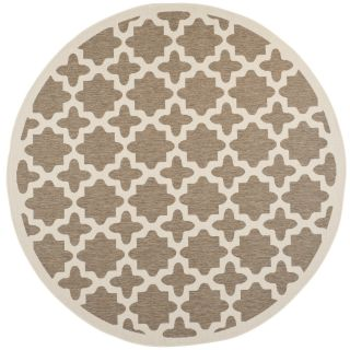 Safavieh Indoor/ Outdoor Courtyard Border Brown/ Bone Rug (710