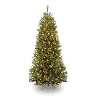 7 1/2 foot Rocky Ridge Slim Pine Hinged Tree with 600 Clear Lights    National Tree Company