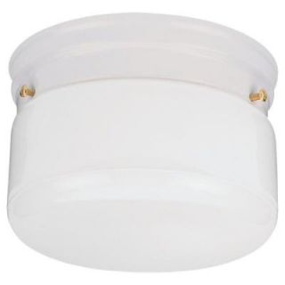 Sea Gull Lighting Ceiling Flush Mount Collection 1 Light White Ceiling Fixture 5321 15