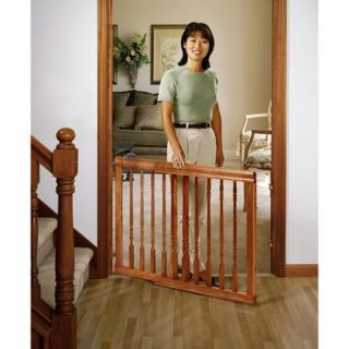Evenflo Home Decor Wood Swing Gate, Dark Auburn