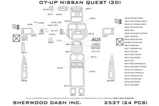 2011 Nissan Quest Wood Dash Kits   Sherwood Innovations 2537 R   Sherwood Innovations Dash Kits