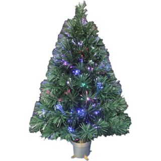 Holiday Time Pre Lit 2.5' Fiber Optic Artificial Christmas Tree, Concord Green