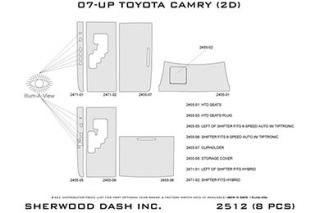 2007 2011 Toyota Camry Wood Dash Kits   Sherwood Innovations 2512 CF   Sherwood Innovations Dash Kits