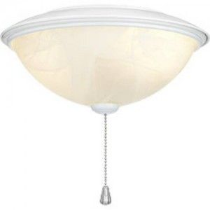 Nutone LK30AWH Fan, Contemporary Indoor Ceiling Fan Light Kit with Alabaster Glass   White Trim