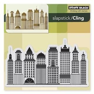 Penny Black Cling Rubber Stamp 5 X5 Sheet   Skyline   16018540