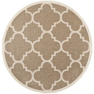 Safavieh Indoor/ Outdoor Courtyard Brown Rug (53 Round)   15517392