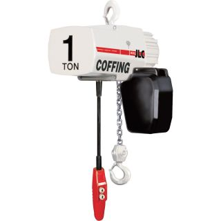 Coffing Industrial-Duty Electric Chain Hoist — 1 Ton Capacity, 15ft. Lift, Model# 08240W