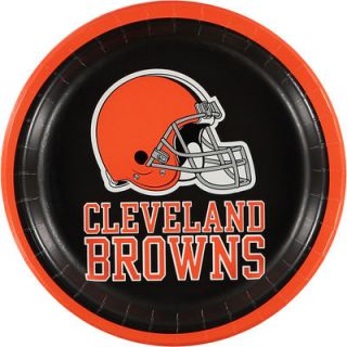 Cleveland Browns 8 Pack Lunch Plate Set