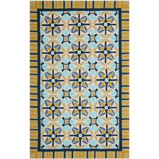 Safavieh Four Seasons Rectangular Brown Geometric Indoor/Outdoor Woven Area Rug (Common 5 ft x 8 ft; Actual 5 ft x 8 ft)